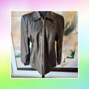 Jacqueline Ferrar Genuine Lambskin Leather Women's